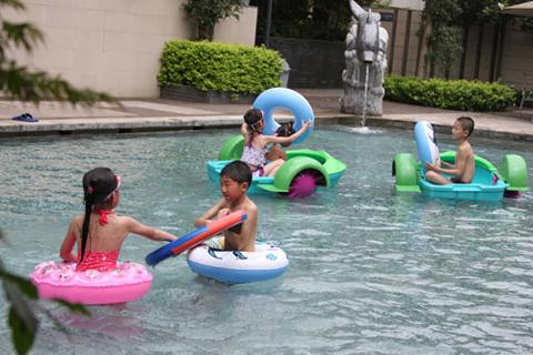 绿中海温泉的儿童温泉