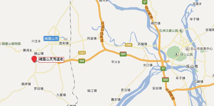 灵秀温泉地理位置地图和交通线路