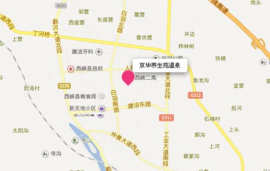 京华养生苑温泉地理位置和交通地图