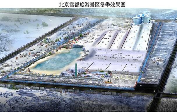 建筑面积10万多平米的雪都滑雪场