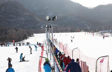 初级和中级滑雪道