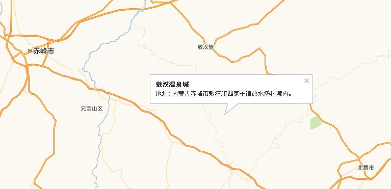 敖汉温泉城地理位置和周边高速