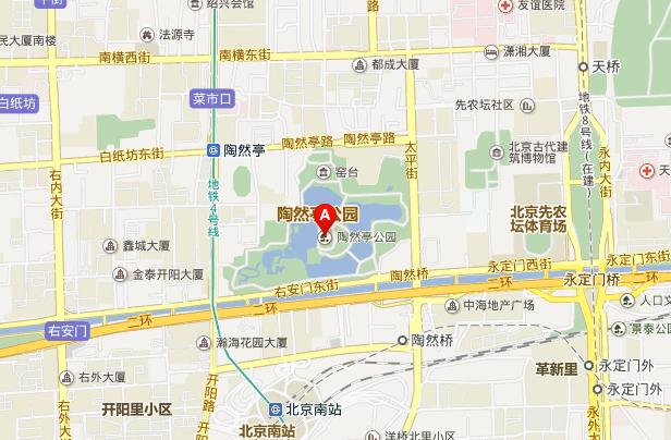 陶然亭冰雪嘉年地址地图展示