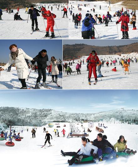 沂水地下画廊滑雪场众多的雪上娱乐和滑雪项目