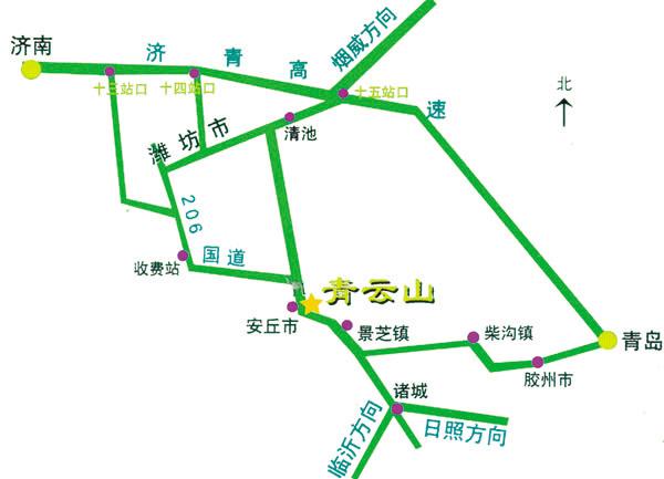 儿童手绘景区路线图