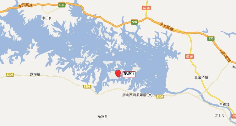 花源谷地理位置地图