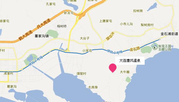 大连唐风温泉地址地图