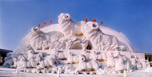 雪雕比赛之群羊