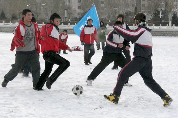 游乐项目之冰上足球