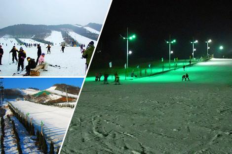 白天晚上夜场均营业的欢乐雪世界