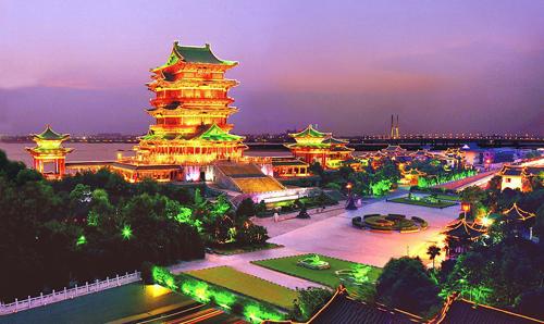 滕王阁美丽的夜景