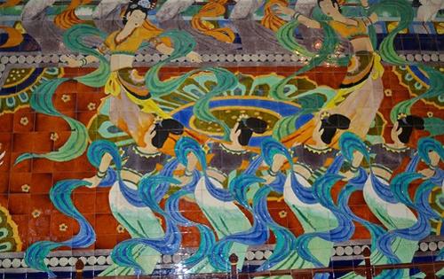 滕王阁优美的壁画