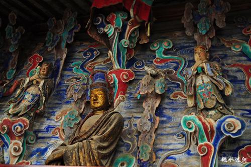 苏州紫金庵彩绘的罗汉像