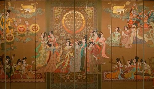 陕西历史博物馆壁画展品