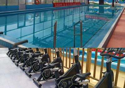 济南腊山水世界室内游泳池及健身器械